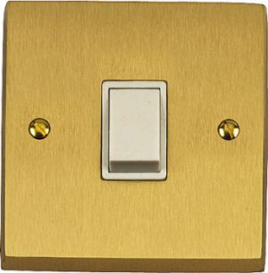 Satin Brass Victorian Light Switches