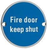 Fire Door Keep Shut Door Sign