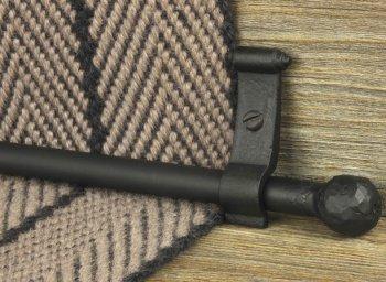 Black Iron Ball Stair Rods