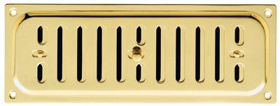 Hit & Miss Brass Ventilation Plate