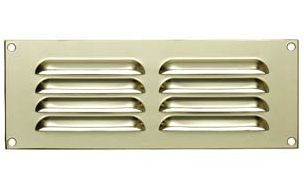 Louvered Brass Ventilation Plate