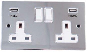 Twin USB Plug Socket