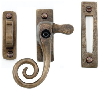 Bronze Locking Curly Tail Fastener