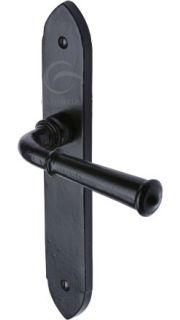 Marcus Smooth Black Iron Hadley Door Handles