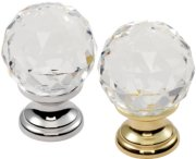 Crystal Faceted Cupboard Knob