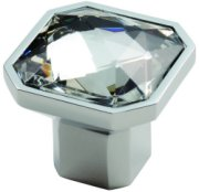 Square Set Crystal Cupboard Knob