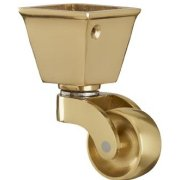 Brass Square Cup Castor