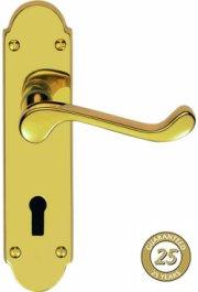 Oakley PVD Brass Door Handles