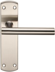Stainless Steel T-Bar Door Handles on Backplate
