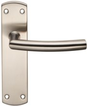 Stainless Steel Arched Door Handles on Backplate