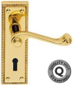 Premium Georgian Brass Door Handles