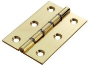 DSW Satin Brass Hinges (pair)