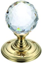 Clear Faceted Glass Door Knobs