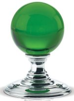 Green Glass Ball Door Knobs