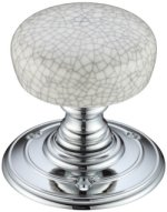 Fulton and Bray Grey Crackle Porcelain Door Knobs