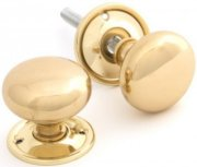 Unlacquered Brass Cottage Door Knobs