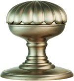 Delamain Satin Nickel Flower Door Knobs