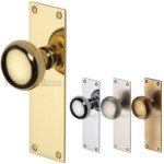 Round Door Knobs on Flat Backplate