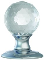 Ice Faceted Crystal Door Knobs