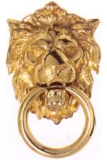 Georgian Lion Head Door Knockers