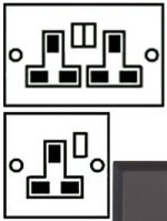 Matt Bronze Plug Sockets