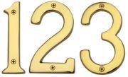 Exceptionnel Door Numerals (102mm). Solid Brass Door Numbers.