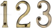 Antique Brass Door Numbers