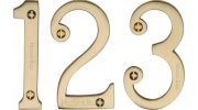 Satin Brass Door Numbers