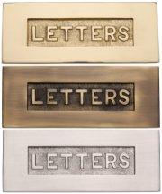 Embossed Letter Plates