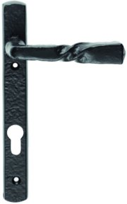 Foxcote Foundries Black Iron Narrow Plate Door Handles