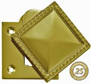 PVD Brass Greek Key Covered Escutcheon