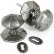 Pewter Octagonal Door Knobs