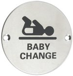 Baby Change Symbol Door Sign