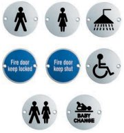 Stainless Steel Door Signs