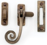 Bronze Curly Tail Casement Fastener